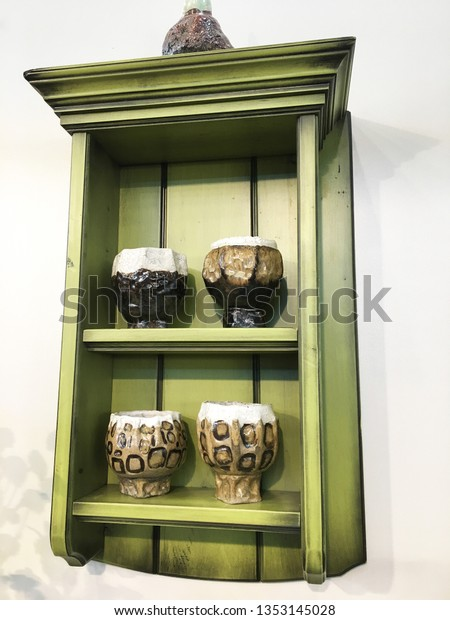 Skinny Wall Shelves Slim Shelf Floating Stock Photo Edit Now 1353145028