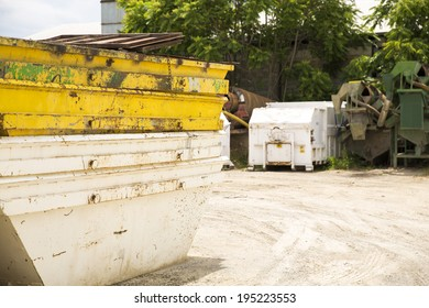 A skip on construction site