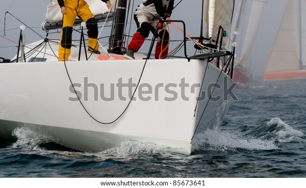 skipper at regatta yacht