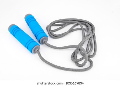 Skipping rope isolated on white background.