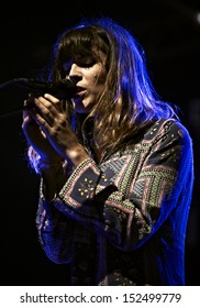 SKIPTON, AUGUST 17: Melody's Echo Chamber performs at Beacons Festival on August 17, 2013 in Skipton