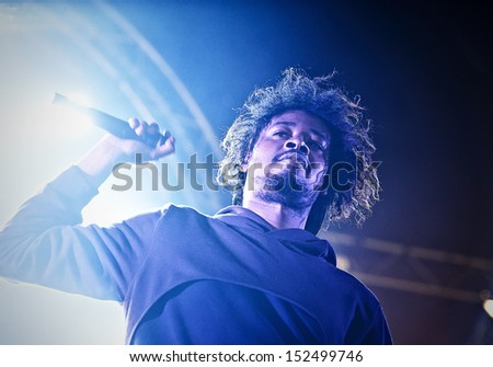 SKIPTON, AUGUST 18: Danny Brown performs at Beacons Festival on August 18, 2013 in Skipton