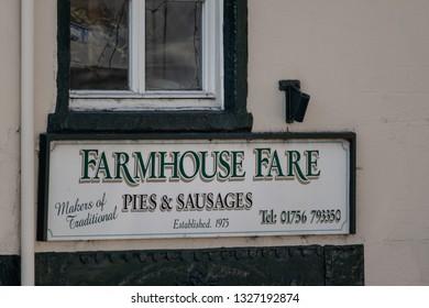 Skipton, England - 02 Feb 2019: Skipton farmhouse pie shop