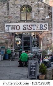 Skipton, England - 02 Feb 2019: Skipton two sisters cafe pub