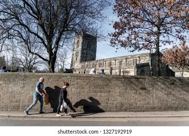 Skipton, England - 02 Feb 2019: Skipton holly trinity church