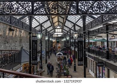 Skipton, England - 02 Feb 2019: Skipton shopping centre
