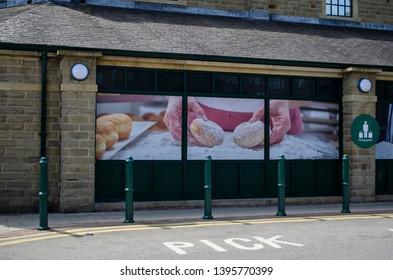 Skipton / United Kingdom -  12 May 2019: Morrisons supermarket Skipton, UK