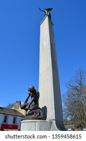 Skipton / United Kingdom -  31 March 2019: statue in the city - Skipton