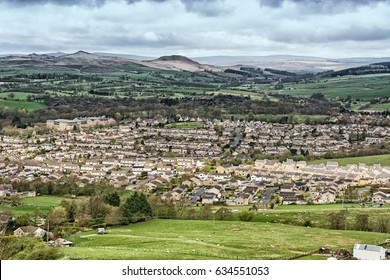Skipton in Yorkshire from the moor