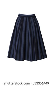 skirt in retro style isolated on white background
