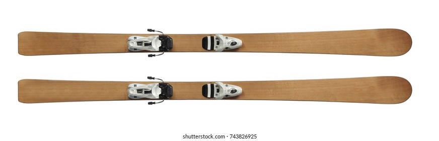 skis isolated on white background