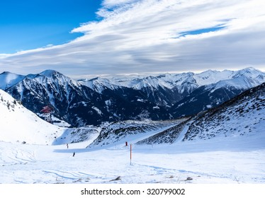 Skislopes and chairlifts. Bad-Gastein, Austria.