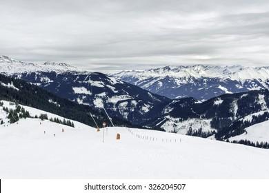 Skislopes of Kitzbuhel. Tirol, Austria.