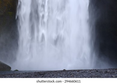 skogafoss is a big waterfall in iceland