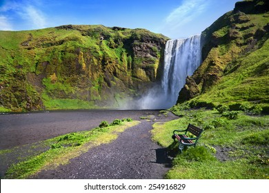 Skogafoss - one of the famous waterfall in Iceland
