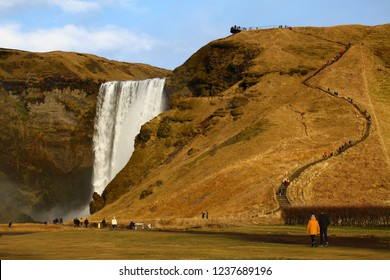 Skogafoss is one of the most iconic waterfall in Iceland.