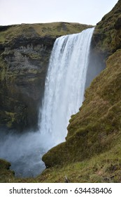 Skogafoss is one of the most popular waterfalls in Iceland . It is located in South Iceland. Due to the amount of spray the waterfall often produces a single or double rainbow on sunny days.