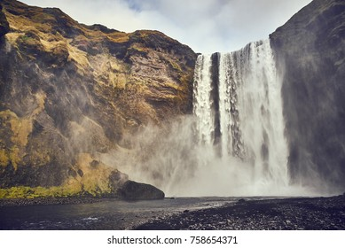 Skogafoss  is a waterfall in Iceland