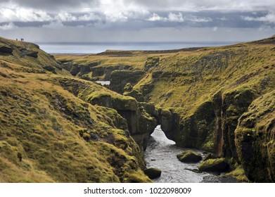 Skogafoss Waterfall, Skoga river, Iceland,