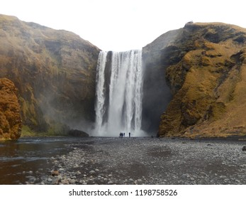 Skogafoss Winterfall Iceland