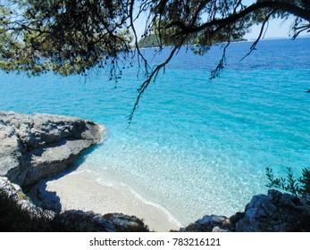 Skopelos small beach between Milia and Kastani