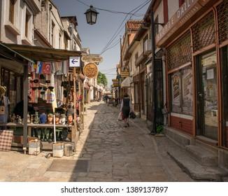 Skopje, Macedonia, 04/25/2019-The Stara Čaršija (Macedonian: Стара Чаршија; meaning Old Bazaar or Old Town) of Skopje, North Macedonia, is the city's historic centre.