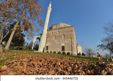 Skopje, Macedonia - December 20, 2016 : Mustafa Pasha Mosque is a mosque located in the Old Bazaar of Skopje, Macedonia. It was built in 1492 by Mustafa Pasha, vizier on the court of Sultan Selim I.