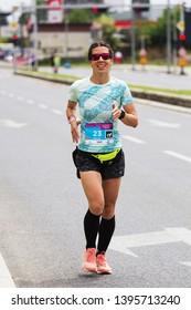 SKOPJE - MAY, 04: Over 12,000 Registered Runners Participate in the Skopje Marathon on May 04, 2019 in Skopje, Macedonia.