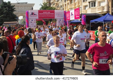 SKOPJE - MAY, 08: Over 8,000 Registered Runners Participate in the Skopje Marathon on May 08, 2016 in Skopje, Macedonia.