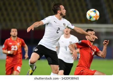 SKOPJE, NORTH MACEDONIA - 06/10/2019: Austrian defender Andreas Ulmer on the European qualifier match against North Macedonia in Skopje.