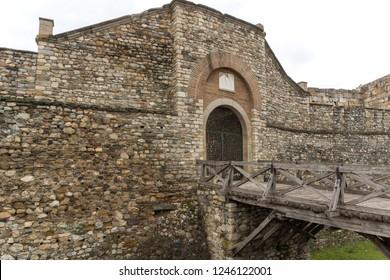 SKOPJE, REPUBLIC OF MACEDONIA - FEBRUARY 24, 2018: Skopje fortress (Kale fortress) in the Old Town, Republic of Macedonia