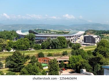 Skopje,Macedonia, 05-31-2018, Football Stadium Arena Filip 2 in Skopje