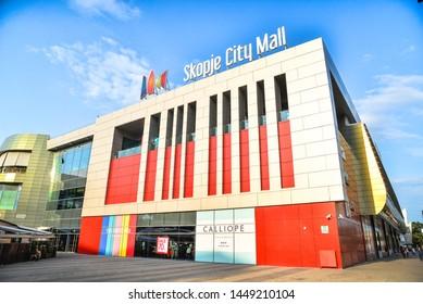 SKOPJE/MACEDONIA - 07.12.2019: Skopje City Mall in Skopje, Republic of Macedonia
