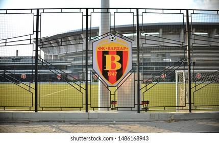 "Skopje/Macedonia - 08.23.2019: FC Vardar Football Academy ground in Skopje, Macedonia. Next to the FC Vardar Football Academy is the National Arena ""Todor Proeski""  where FC Vardar senior team plays m"