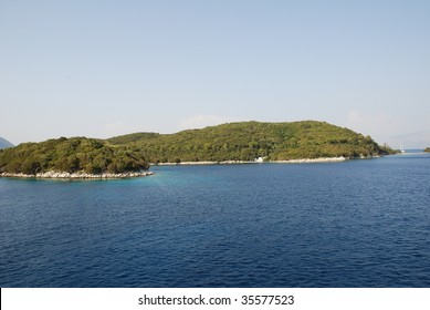 Skorpios island, owned by the Onassis family, just off the coast of Lefkada island in Greece.
