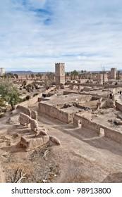 Skoura village Kasba ruins at Morocco