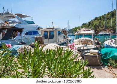 SKRADIN, CROATIA - JULY 17, 2017: Marina in Skradin on a summer day. Croatia.