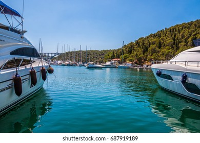 Skradin is a small historic town and harbour on the Adriatic coast and Krka river in Croatia