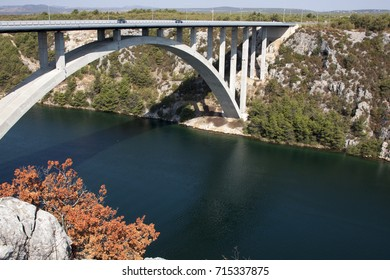 Skradin, town on confluence of river Krka at Adriatic sea, near Krka waterfalls
