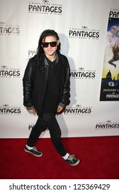 "Skrillex at the ""Peter Pan"" Opening Night, Pantages, Hollywood, CA 01-15-13"