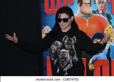 """Skrillex at the """"Wreck-It Ralph"""" Film Premiere, El Capitan, Hollywood, CA 10-29-12"""