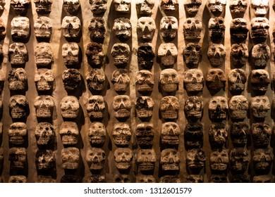 Skul wall from the aztec era.