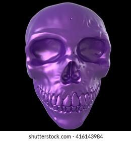Skull. 3D illustration. 3D CG.