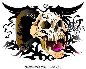 skull art design