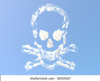 Skull and Bones formed from clouds