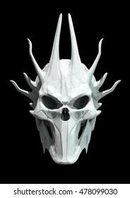 Skull design on a black background for Halloween. 3D illustration