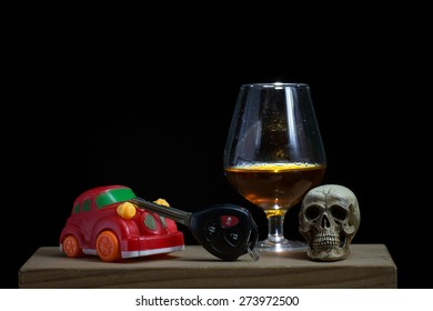 Skull and Drinking Don't Driving Still Life