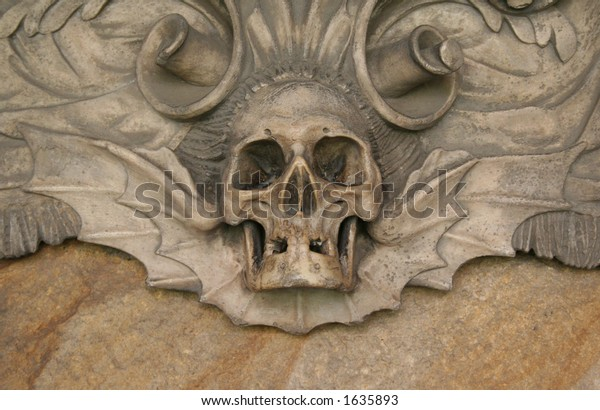 Skull at the Durham cathedral