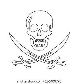 Skull and swords (pirate symbol)