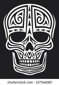 skull in tattoo style